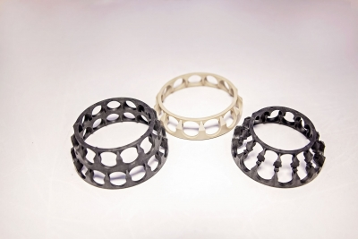 Part Name: Automotive Bearing Cage<br>Tool Info: Prototype Mold<br>Resin: Nylon